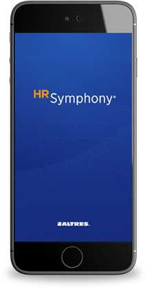 HR Symphony on mobile phone